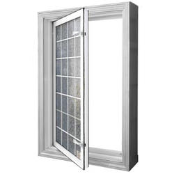 "Wellcraft™ 29-1/4"" x 47-1/4"" Wave Acrylic Block Egress Window (reversible swing)"