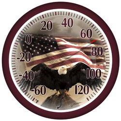 "Springfield® 13-1/4"" Patriotic Patio Thermometer (Assorted Styles)"