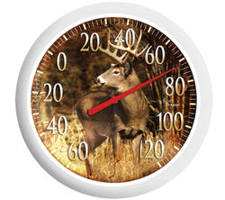 "Springfield® 13-1/4"" Deer Patio Thermometer"
