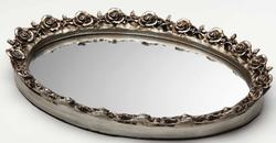 Oval Resin Mirror Tray