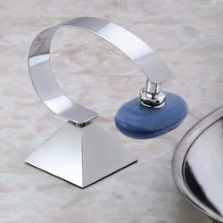 Chrome Deluxe Magnetic Soap Holder w/Pyramid Base