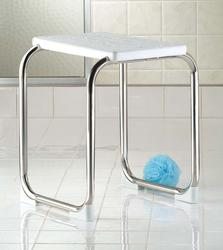Polished Stainless Steel Shower Bench
