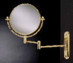 Solid Brass Swing Arm Rotating Mirror (Polished Brass)