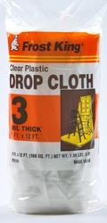 Frost King 9' x 12' x 3 mil Clear Poly Drop Cloth