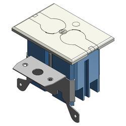 Carlon Ivory PVC Floor Box Kit