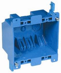 Carlon Wall Box, 2 Zip-Mount Retainers and Mounting Flanges