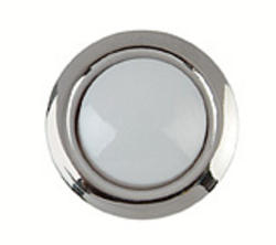 Carlon Silver Rim Lighted Wired Round Push Button