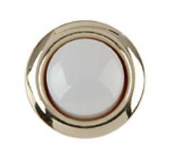 Carlon Gold Rim Lighted Wired Round Push Button