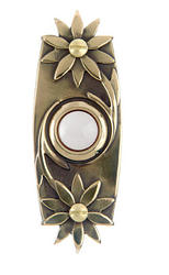 Carlon Floral Antique Wired Brass Push Button