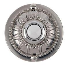 Carlon Medallion Wired Brass Push Button