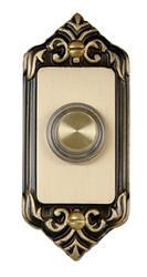 Carlon Sculptured Wired Brass Push Button