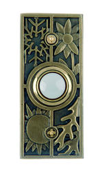 Carlon Seasons Antique Finish Solid Brass Lighted Push Button