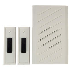 Carlon Deluxe Wireless Plug-In Door Chime with 2 Buttons