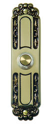 Carlon Antique Brass Lighted Wired Button