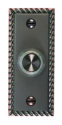 Carlon Bronze Finish Rope Edge Wired Brass Chime Button
