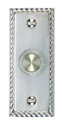 Carlon Nickel Finish Rope Edge Wired Brass Chime Button