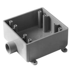 "Carlon 3/4"" PVC 2-Gang FS Box"