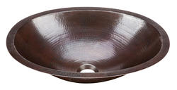 SINKOLOGY Handcrafted Pure Solid Copper Oval Undermount Bath Sink in Aged Copper