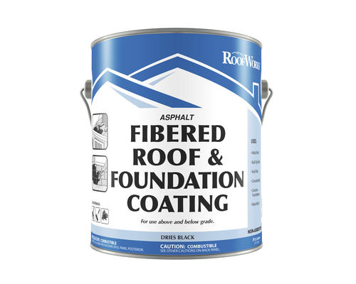 Roofworks Fibered Roof Amp Foundation Coating 9 Gal