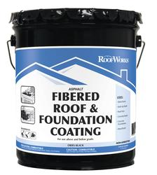 RoofWorks Fibered Roof & Foundation Coating - 4.75-gal.