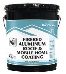 RoofWorks Fibered Aluminum Roof Coating - 4.75-gal.