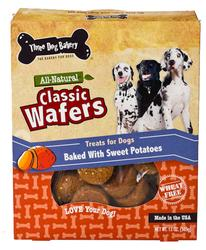 Three Dog Bakery Classic Sweet Potato Wafers for Dogs