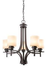 """Adel 5-Light 26"""" Bronze Indoor Chandelier"""