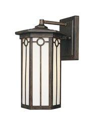 """Patriot Lighting Westport 12.5"""" Warm Mahogany 1-Light Outdoor Wall Light"""