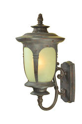 "Patriot Lighting Filmore 24.8"" Mediterranean Patina 1-Light Outdoor Wall Light"