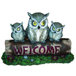 "Enchanted Garden™ 10"" Owls ""Welcome"" Sign"