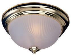 """Design House 1-Light 11.25"""" Polished Brass Indoor Ceiling Mount"""