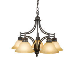 "Bristol 5-Light 23"" Oil-Rubbed Bronze Indoor Chandelier"