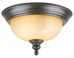 "Bristol 2-Light 13"" Oil-Rubbed Bronze Indoor Ceiling Mount"