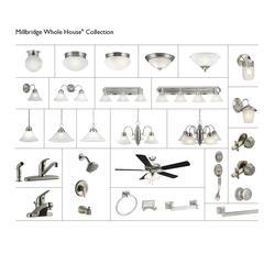 "Millbridge 1-Light 9"" Satin Nickel Indoor Pendant"