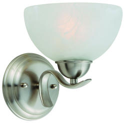 "Trevie 1-Light 7.8"" Satin Nickel Indoor Wall Mount"