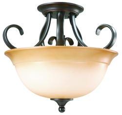 "Cameron 2-Light 12.25"" Oil-Rubbed Bronze Indoor Ceiling Mount"