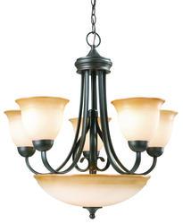 """Cameron 6-Light 25.75"""" Oil-Rubbed Bronze Indoor Chandelier"""