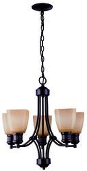 """Palmer 5-Light 20.5"""" Oil-Rubbed Bronze Indoor Chandelier"""