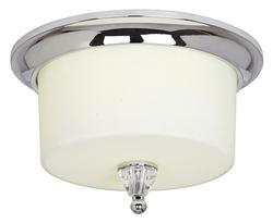 "Ava 2-Light GU24 13"" Polished Chrome Indoor Flush Mount"