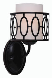 "Wyatt 1-Light 10"" Aged Bronze Indoor Wall Mount"