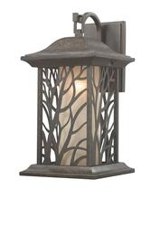 "Silverleaf 1-Light 15.875"" Auburn Bronze Outdoor Wall Light"