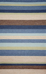 Ravella Stripe Collection Outdoor Patio Rug 5' x 7'6""