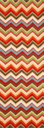 Ravella Zigzag Collection Outdoor Patio Rug 2' x 8'