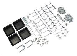 DuraHook™ 64-Piece Hook and Hanging Bin Assortment Kit - 60 Hooks/4 Bins