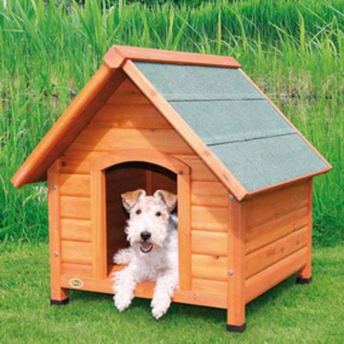 Trixier naturar extra large dog kennel with gabled roof at for Menards dog house