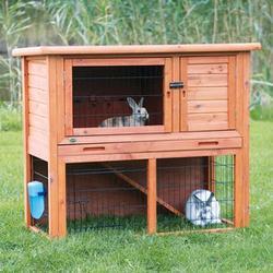 Trixie® Natura® Small Brown Rabbit Hutch with Enclosure
