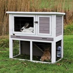 Trixie® Natura® Small Gray and White Rabbit Hutch with Enclosure