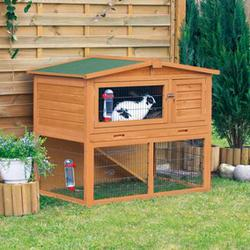 Trixie® Natura® Small Brown Animal Hutch with Enclosure