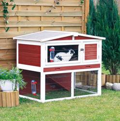 Trixie® Natura® Red and White Small Animal Hutch