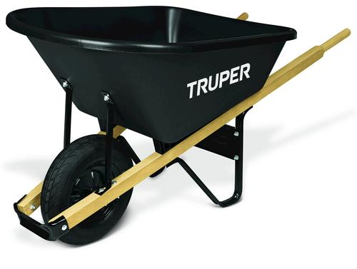 6 cu ft wheelbarrow with poly tray and wood handles at for Gardening tools menards